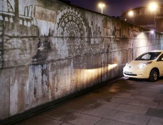 NISSAN LEAF POWERS LONDON ARTIST'S GRAFFITI