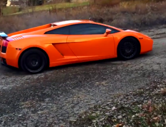 Before turning a Lamborghini Gallardo into a rally car why not dirt drift it?