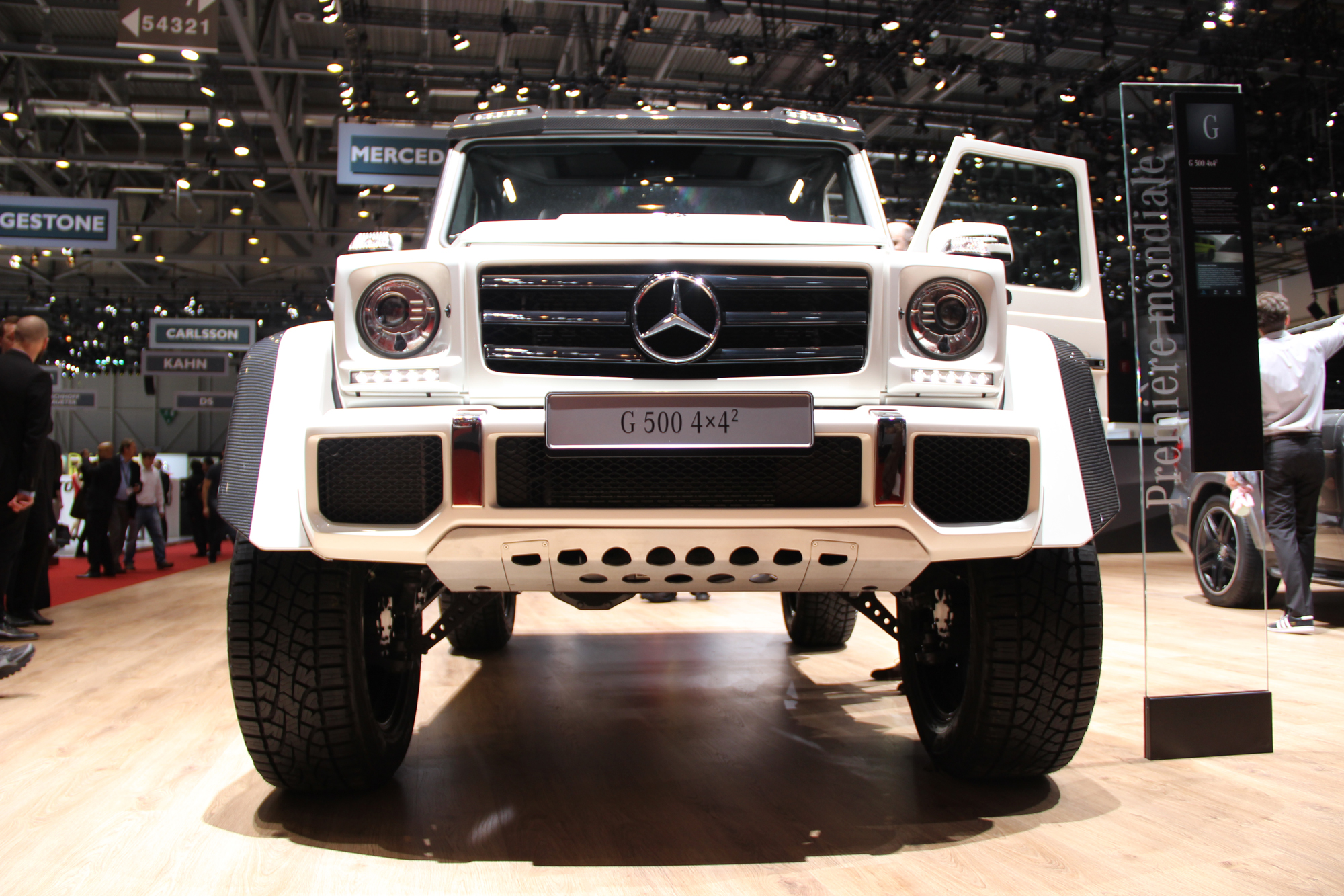 2015 geneva mercedes g500 4x4 squared shows off its all for Mercedes benz g wagon squared