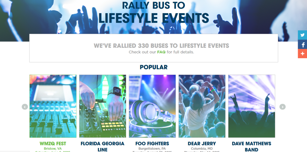 Rally Bus Lifestyle Page